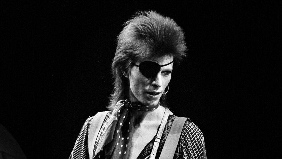"""David Bowie, performing """"Rebel Rebel"""" on Feb. 13, 1974."""