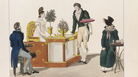 <em>La Belle Limonadiere,</em> hand coloured etching (1816). Lemonade was ubiquitous in mid-17th century Paris. Where the limonadiers went, piles of spent lemon peels followed. As rats nibbled on the peels, they killed off plague-infected fleas, Tom Nealon argues in his new book.