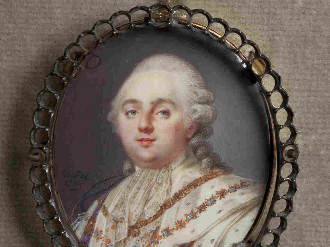 Louis Marie Sicardi, Miniature Portrait of Louis XVI (1784) Watercolor on ivory