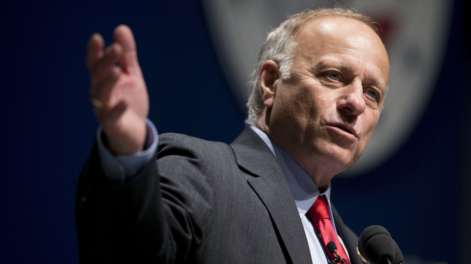 """Iowa Rep. Steve King stands by his remark that """"We can't restore our civilization with somebody else's babies."""" (Andrew Harrer/Bloomberg via Getty Images)"""