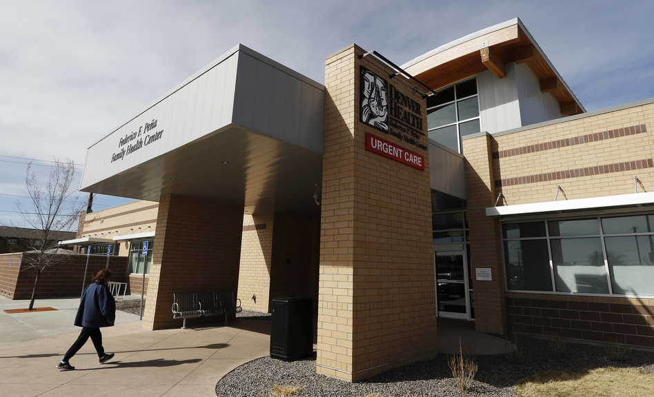 Denver Health Medical Center's primary care clinic is located in a low-income neighborhood in southwest Denver. The recent expansion of Medicaid, which serves low-income Americans as well as the elderly and people with disabilities, would be rolled back under the new Republican health care plan. (David Zalubowski/AP)