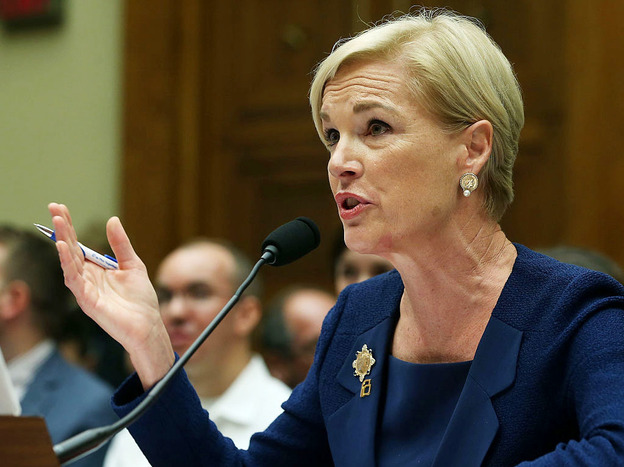 Cecile Richards, the president of Planned Parenthood, says the health care provider takes in about $400 million per year in reimbursements under Medicaid and other federal programs.