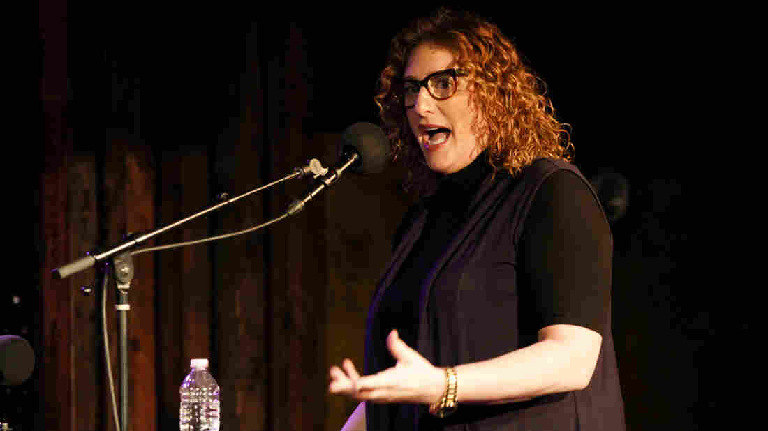 Judy Gold on Ask Me Another at The Bell House in Brooklyn, New York.