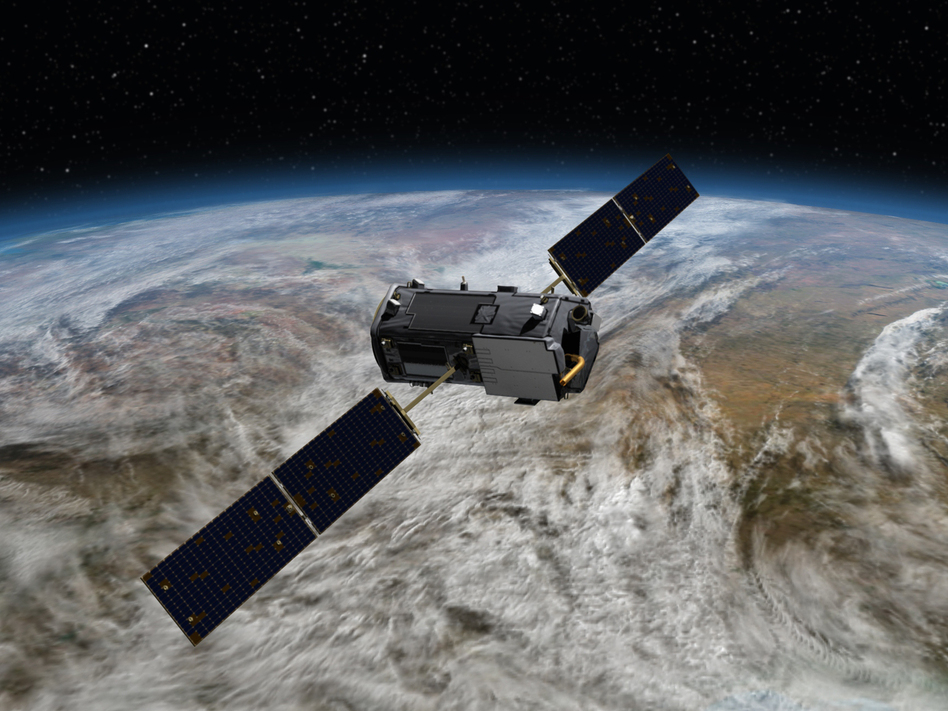 NASA's Orbiting Carbon Observatory-2 monitors how the climate is changing. Trump's budget would eliminate some satellites, including OCO-3, a next-generation carbon-monitoring spacecraft. (NASA)