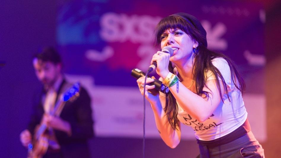 Hurray For The Riff Raff's Alynda Lee Segarra during NPR Music's annual SXSW showcase, held at Stubb's BBQ in Austin, Texas.