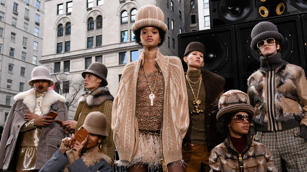 Models pose at the end of the Marc Jacobs Runway Show at Park Avenue Armory on February 16, 2017 in New York City. In the past, Jacobs has been criticized for culturally insensitive runway shows. This year marked a change.