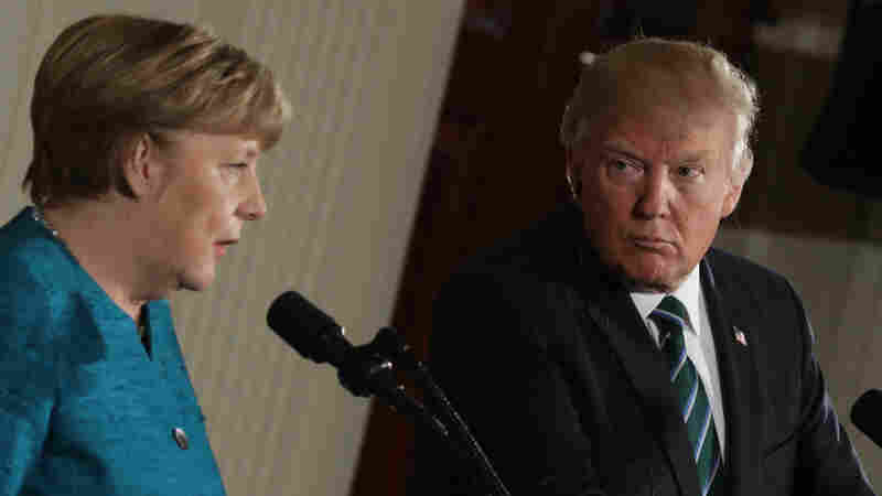 Trump Stands By Unproven Wiretap Claim At Joint News Conference With Merkel