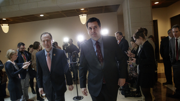 House Intelligence Committee Chairman Rep. Devin Nunes, R-Calif. (right), and the committee