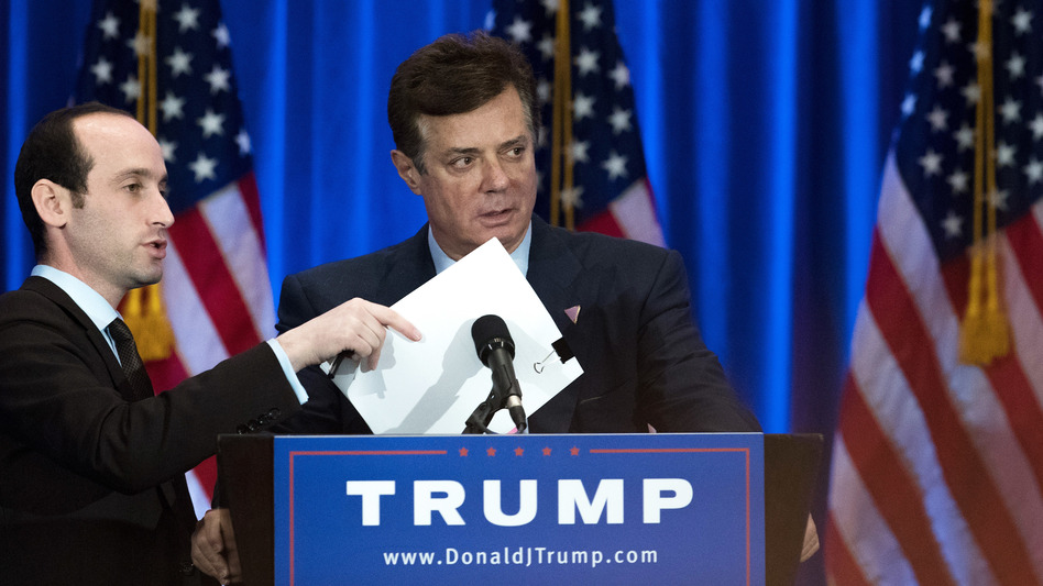 Former Donald Trump campaign chairman Paul Manafort, seen here last June, was paid millions of dollars to advance a pro-Russian agenda, the AP reports. (Drew Angerer/Getty Images)
