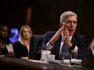 Judge Neil Gorsuch testifies on Capitol Hill on Wednesday before the Senate Judiciary Committee.