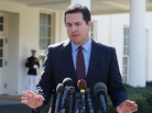 House Intelligence Committee Chairman Devin Nunes speaks to reporters after a meeting at the White House on Wednesday.