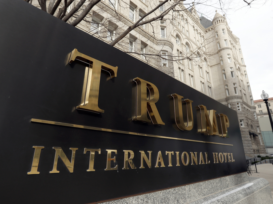 The General Services Administration says President Trump is legally entitled to hold a lease for a hotel in a federal government-owned building, regardless of what critics say. (Alex Brandon/AP)