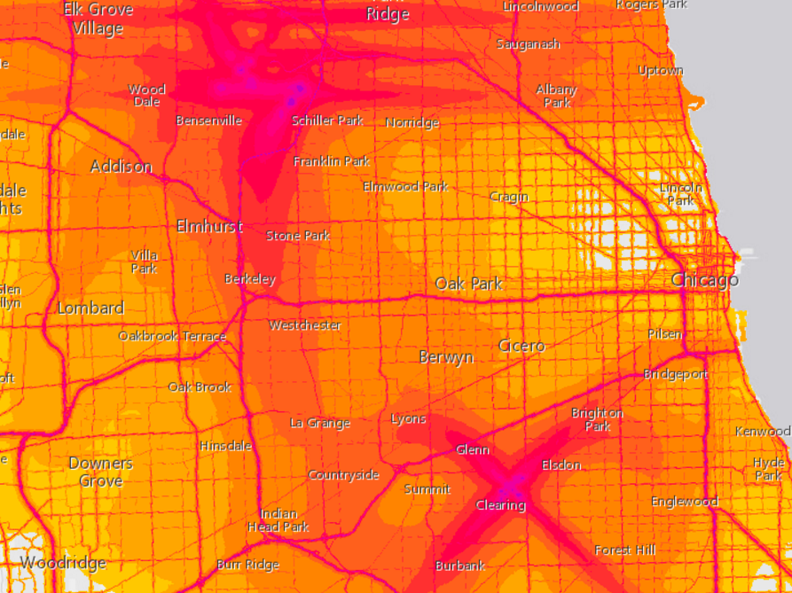 How Noisy Is Your Neighborhood Now Theres A Map For That The - Us noise map