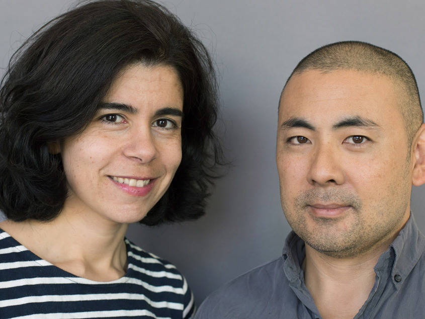 Joanne Nucho and her husband, Jeff Ono, at their StoryCorps interview. StoryCorps