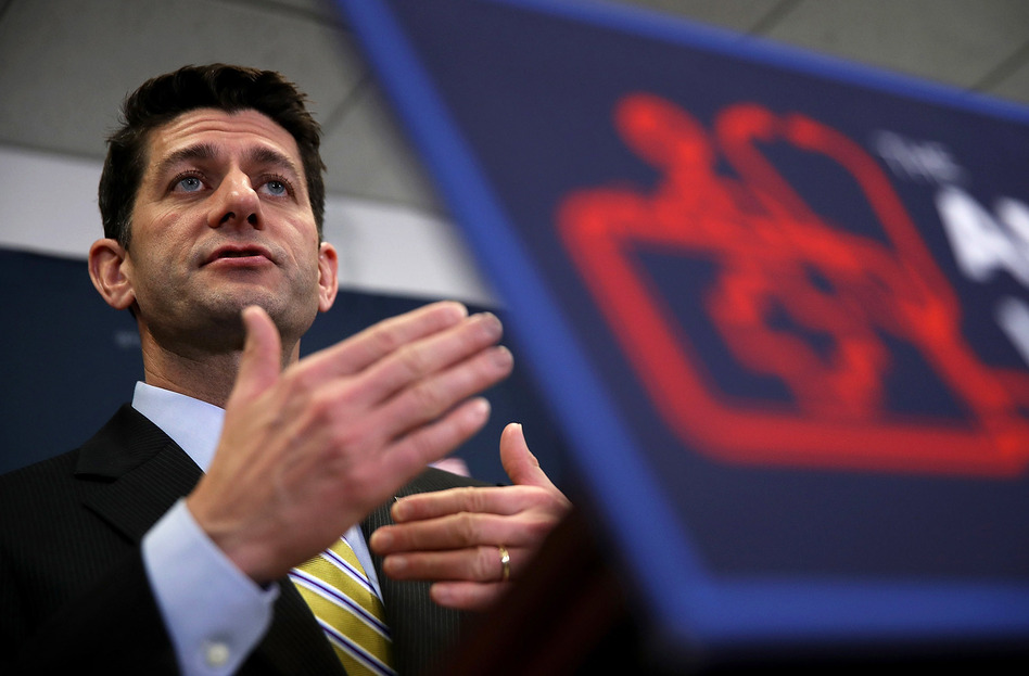 House Speaker Paul Ryan is trying to rally Republican lawmakers to vote for the American Health Care Act. (Justin Sullivan/Getty Images)