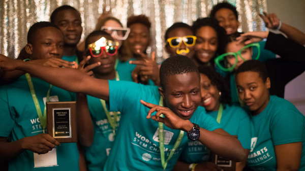 Ghanaian and American team members met for the first time at the competition, held in Washington, D.C.