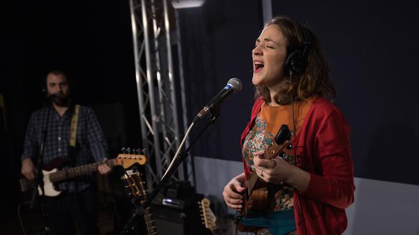 Becca Stevens performs in the World Cafe studio at WXPN in Philadelphia, Penn.