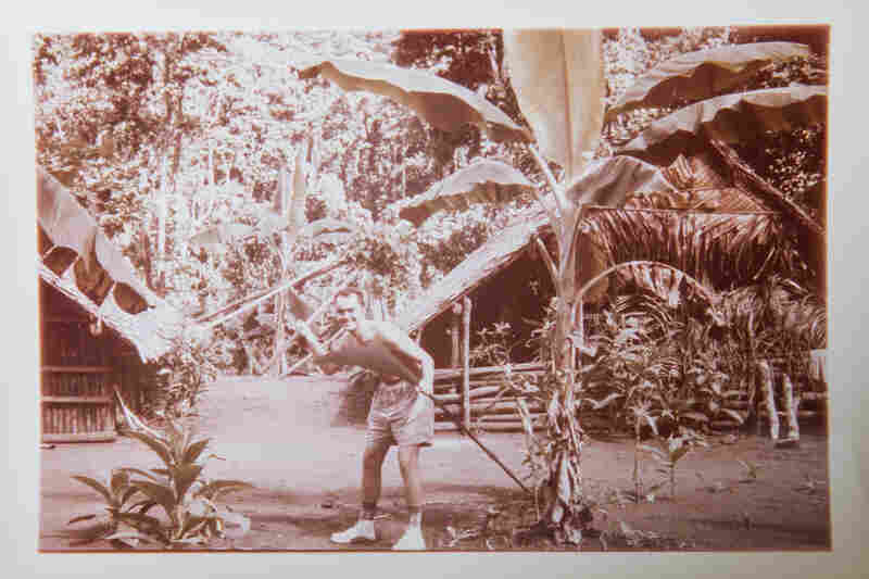 "An old photograph shows Charlie O'Brien at work in the Solomon Islands, where he did research around 1960. The O'Briens traveled the world collecting specimens; Lois told The Guardian it was ""sort of an Indiana Jones life"" for Charlie, and a ""wonderful"" life for her."