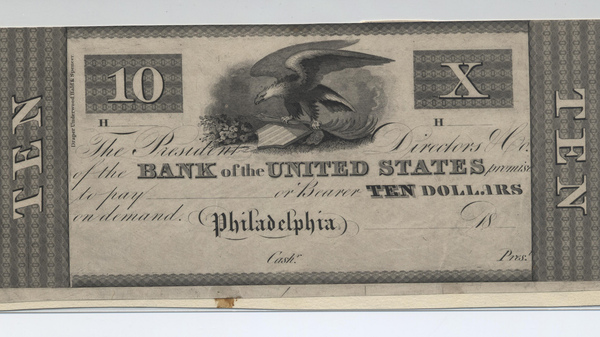 A note from the Second Bank of the United States.