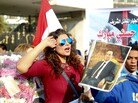 After a prosecutor issued an order for Hosni Mubarak's release earlier this month, a group of people gathered in front of the Al Maadi Hospital in Cairo to celebrate.