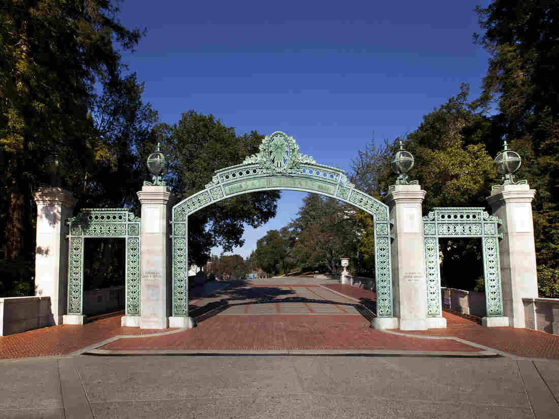 Sather Gate at the University of California, Berkeley.
