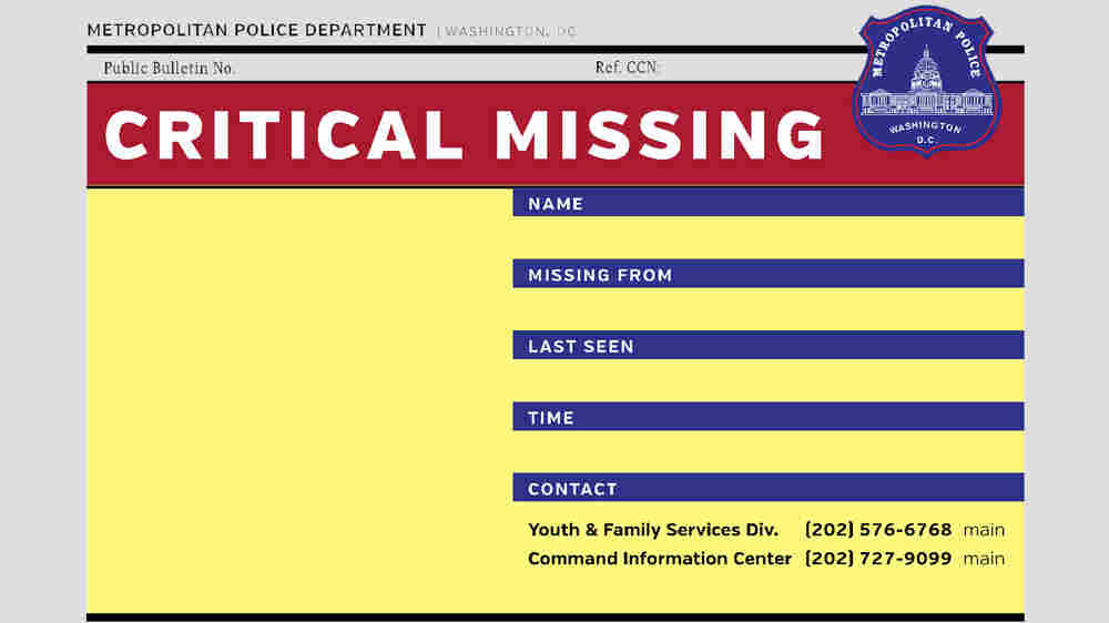 D.C.'s Missing Teens: A False Number That Spurred A Real Conversation On Race