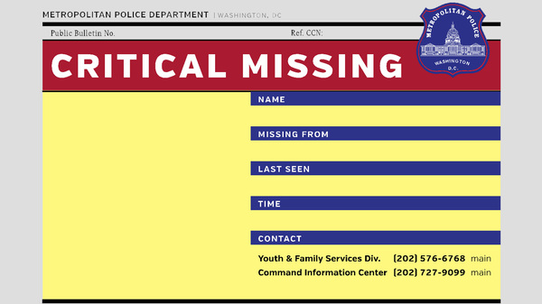 A viral image last week claimed 14 girls of color went missing in 24 hours in D.C. � though police say that