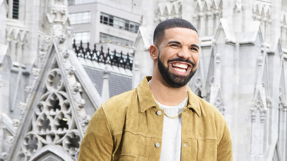 Drake in 2016, just before he released <em>Views</em>, which would go on to be the year's most successful album.