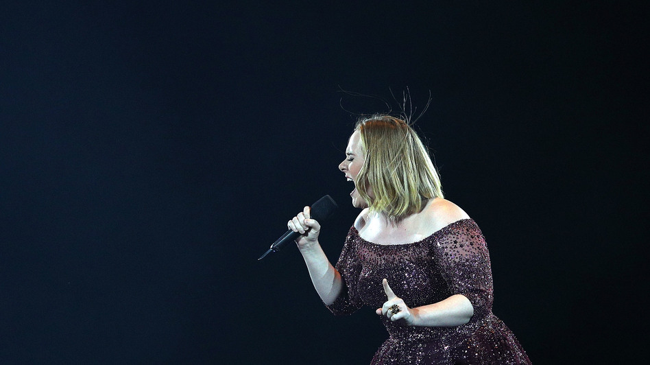 Adele performs at Etihad Stadium in Melbourne, Australia, on March 18.