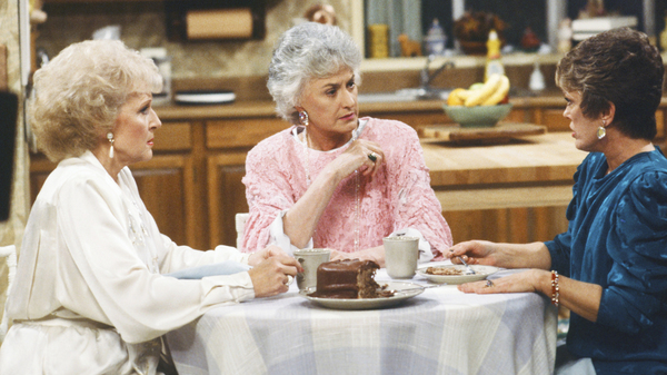 The Golden Girls: Betty White as Rose Nylund, Bea Arthur as Dorothy Petrillo Zbornak, and Rue McClanahan as Blanche Devereaux. Much of the memorabilia that McClanahan left behind — from the show and the rest of her career is on display at Rue La Rue Cafe in Manhattan.