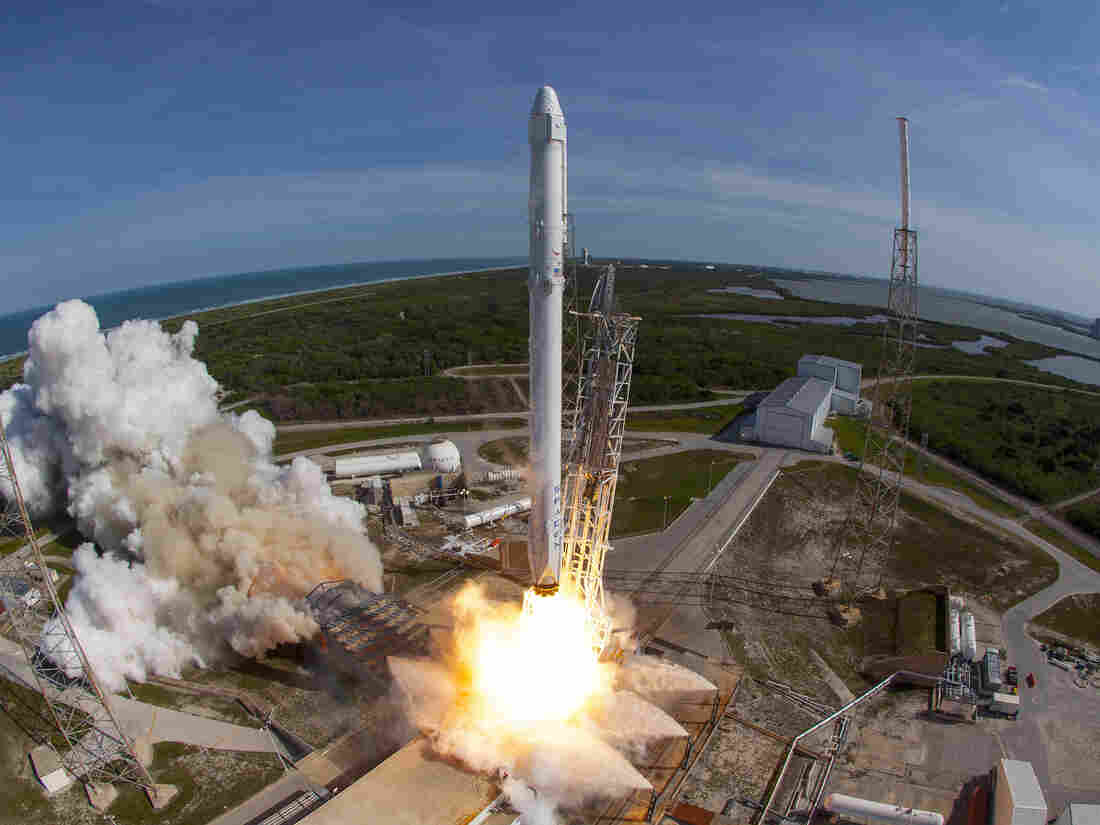 SpaceX makes history by successfully reusing a rocket in latest launch class=