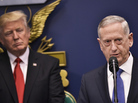 James Mattis speaks after his ceremonial swearing-in as secretary of defense on Jan. 17. In the Trump administration, Mattis and the Pentagon appear to have been given a freer hand.
