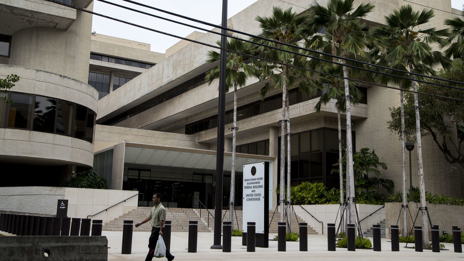 President Trump's executive order restricting travel to the U.S. from six majority-Muslim countries was blocked indefinitely by U.S. District Judge Derrick K. Watson in Hawaii. The administration has appealed to the 9th Circuit Court to overturn Watson's decision. (Kent Nishimura/AFP/Getty Images)