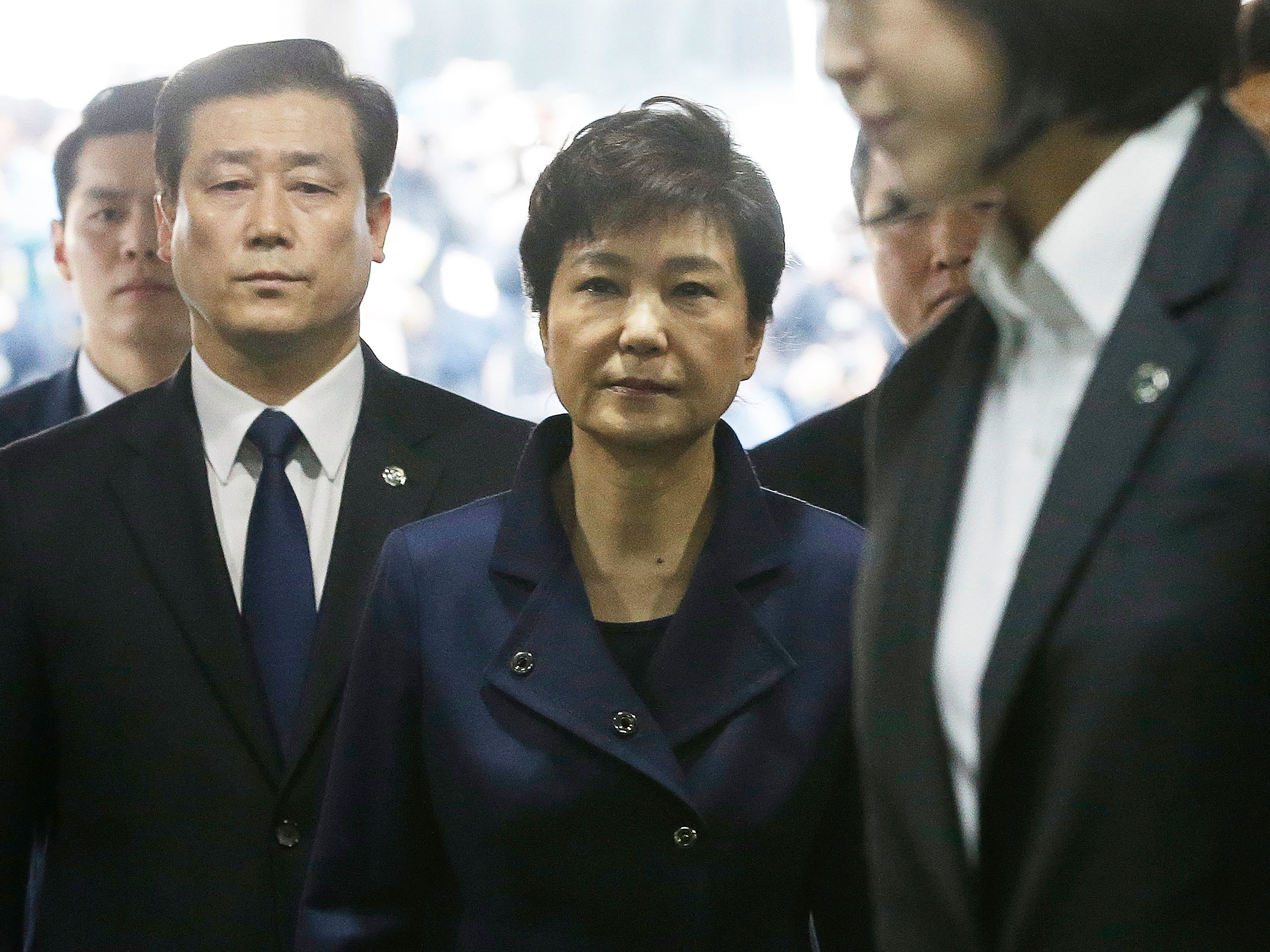 Ousted South Korean Leader Park Geun-hye Arrested On Corruption Charges