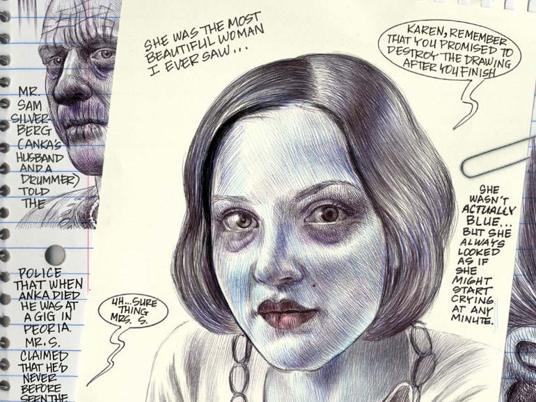 Ferris had to learned to draw again after contracting West Nile virus at 40.     (Fantagraphics)