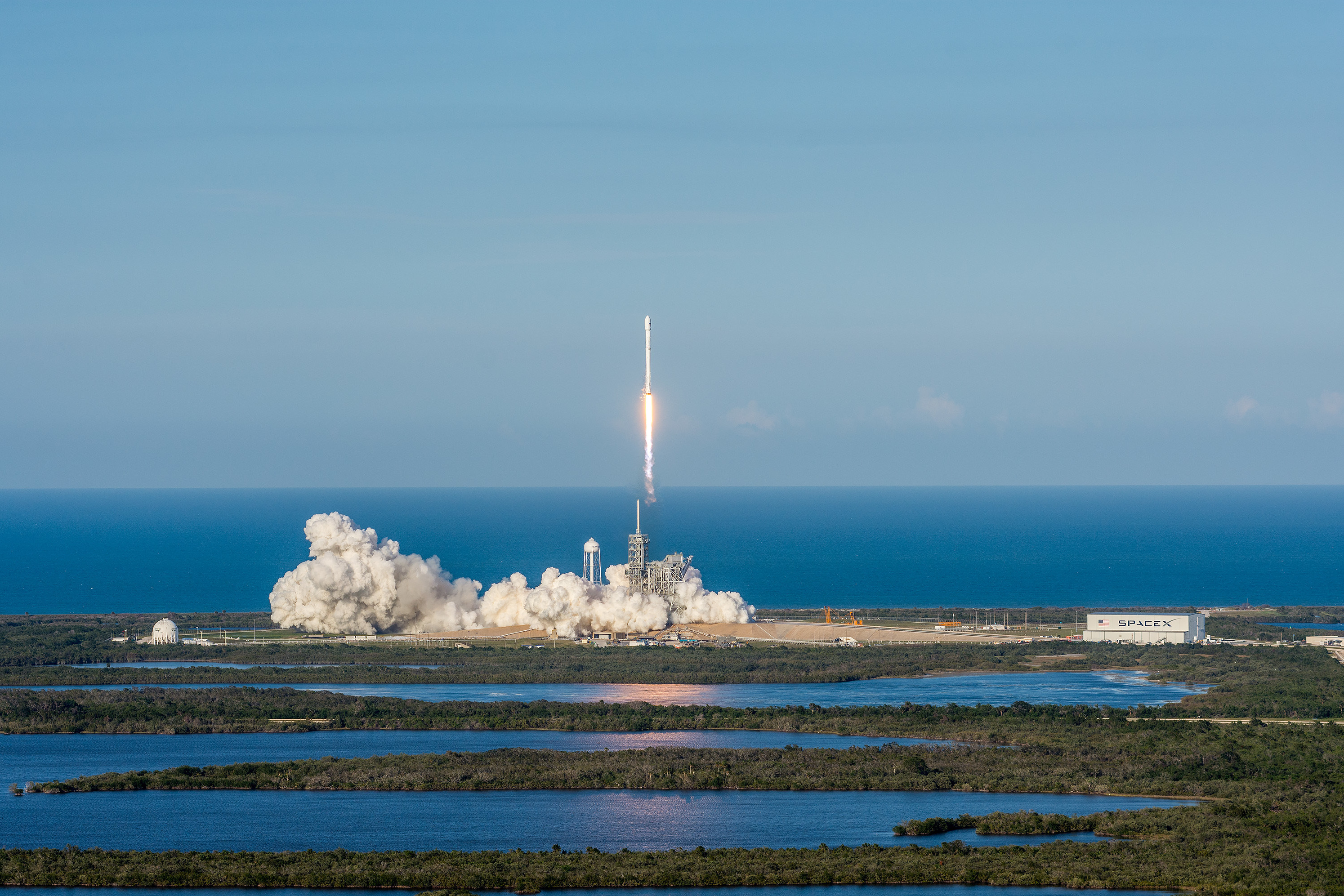 SpaceX launches SES-10 satellite, lands in first reuse of orbital rocket