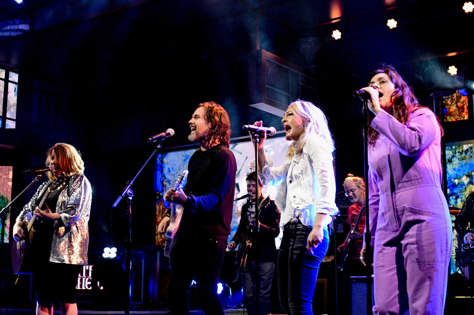 """Broken Social Scene performs """"Halfway Home"""" on <em>The Late Show With Stephen Colbert</em>."""