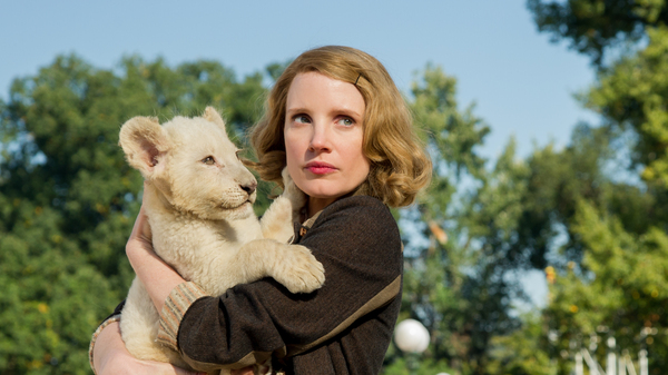 Jessica Chastain stars as Antonina Żabińska, who, along with her husband, helped rescue Jews in Warsaw during World War II.