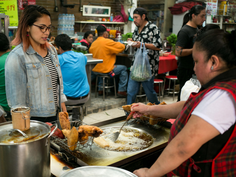 Anais Martinez pork tacos topped with fries: fuel for mexico's diabetes