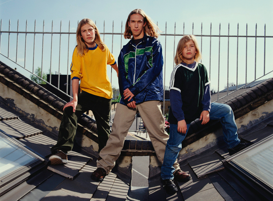 Members of the pop band Hanson pose for a group portrait on a roof in London in 1997. From left to right they are Taylor, Isaac and Zac Hanson. (Mike Prior/Redferns/Getty Images)