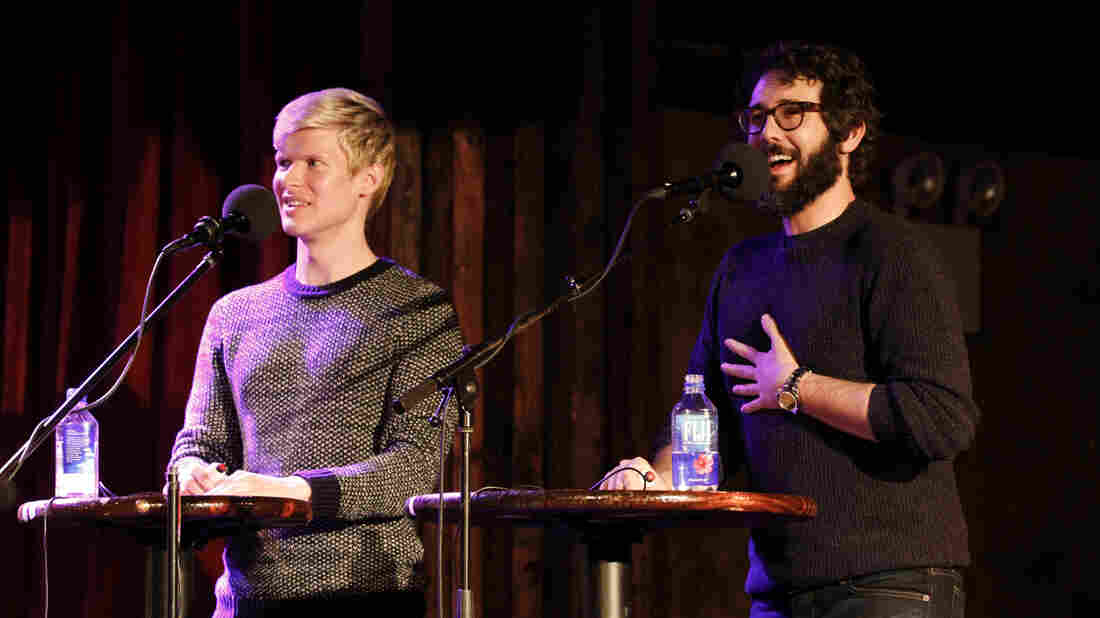Lucas Steele and Josh Groban on Ask Me Another.
