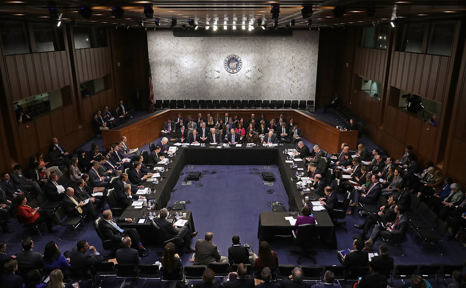 Members of the Senate Judiciary Committee meet to debate and vote on Judge Neil Gorsuch's nomination to the Supreme Court on Monday. (Chip Somodevilla/Getty Images)