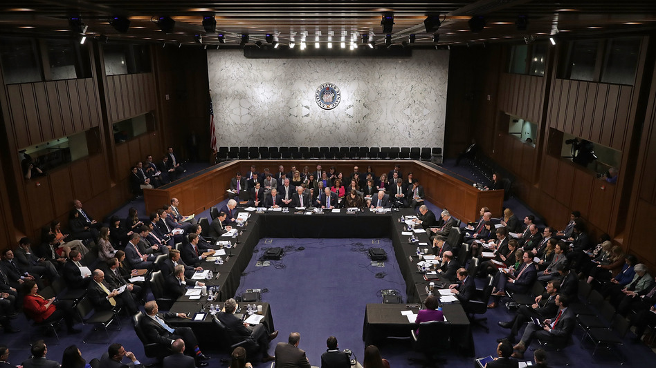 Members of the Senate Judiciary Committee meet to debate and vote on Judge Neil Gorsuch's nomination to the Supreme Court on Monday.