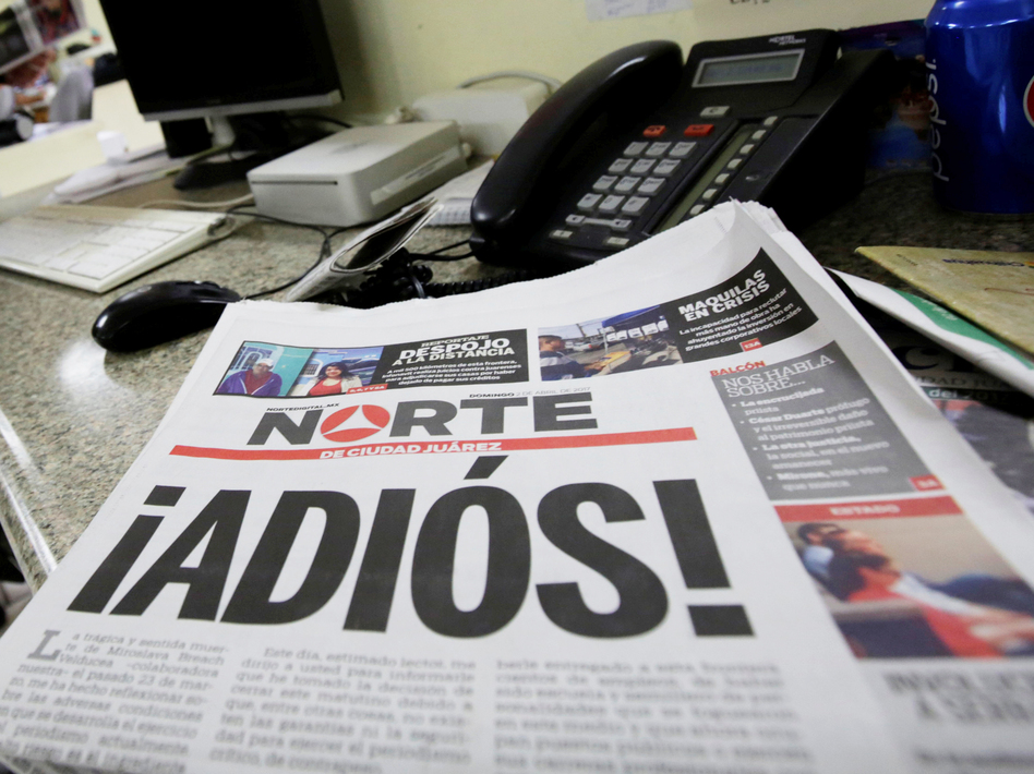 Mexican Newspaper Shuts Down In 'Act Of Protest' After