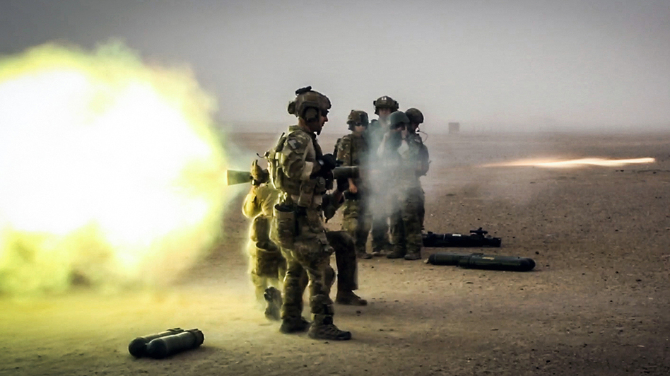 Coalition forces fire a Carl Gustaf recoilless rifle during a training exercise in Afghanistan's Helmand province in 2013. (Spc. Justin Young/U.S. Department of Defense/DVIDS)