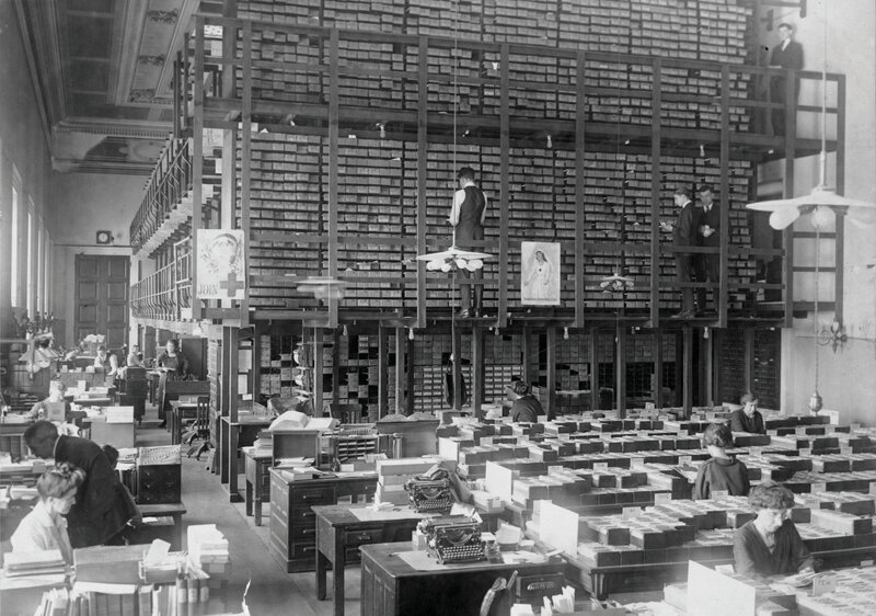 Image of the Library of Congress Card Division, 1919
