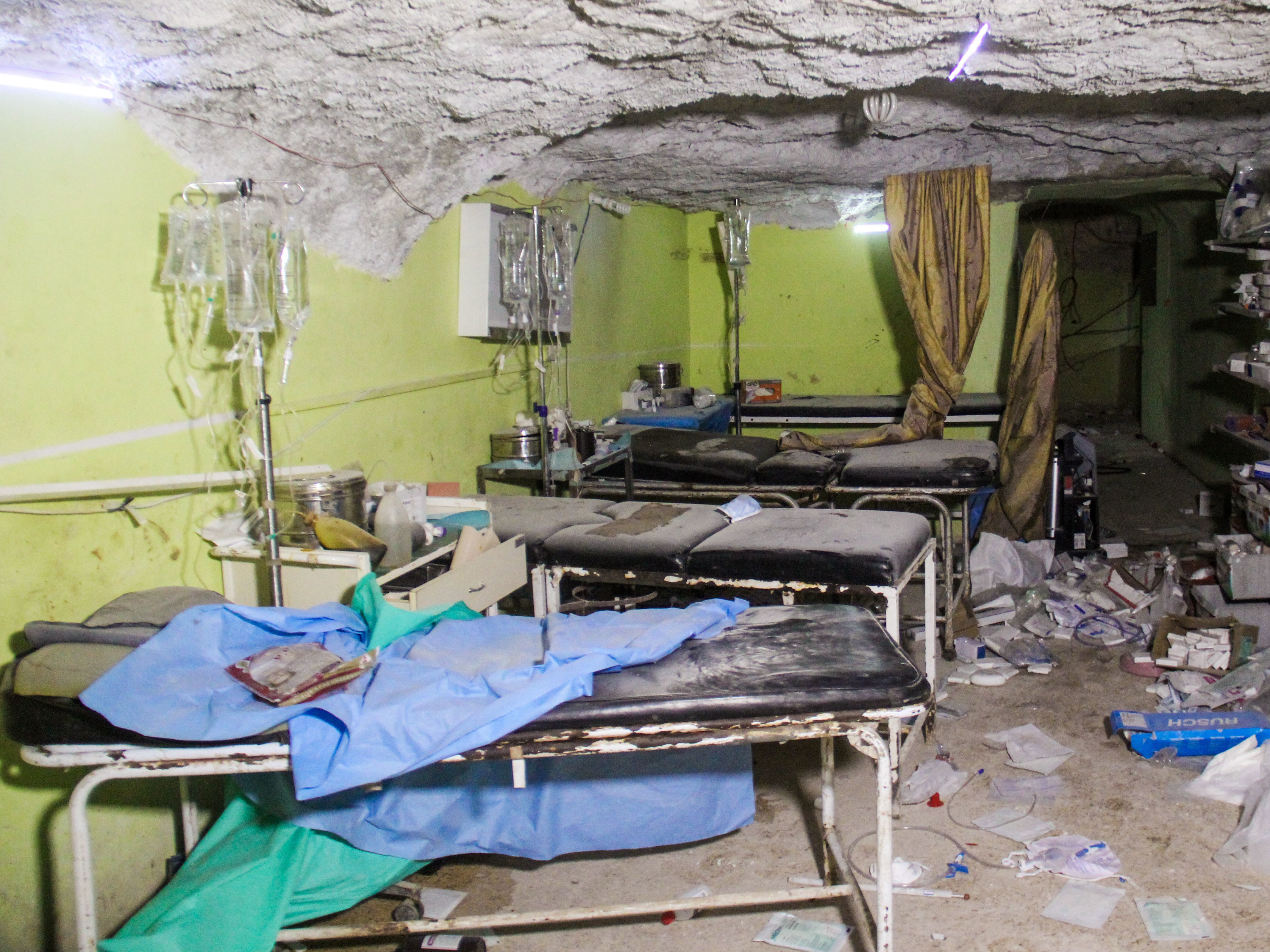 A hospital room in rebel-held Khan Shaykhun was destroyed in the suspected chemical weapons attack. (Omar Haj Kadour/AFP/Getty Images)