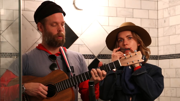 "Bonnie ""Prince"" Billy and Elsa Oldham play a Merle Haggard cover at ""Drag City Limits."""