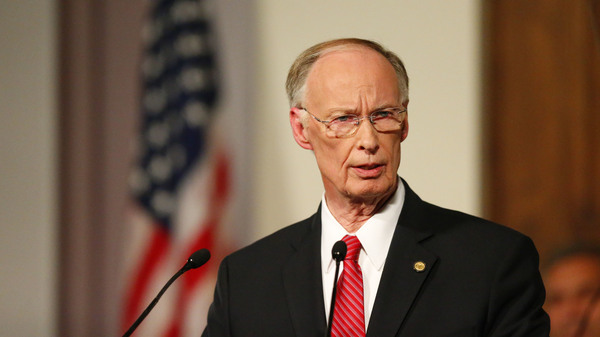 Alabama Gov. Robert Bentley gives the annual State of the State address in February. A judge today delayed the start of impeachment proceedings against the governor.