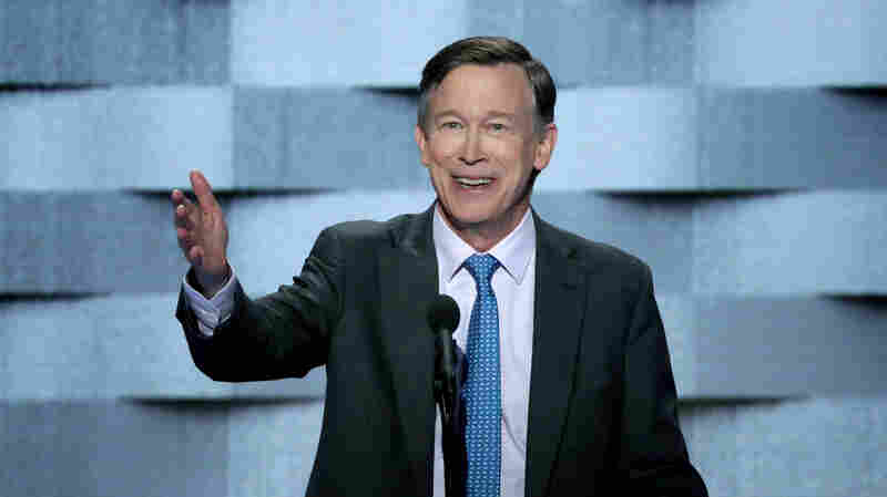 Colorado Gov. John Hickenlooper delivers remarks on the fourth day of the Democratic National Convention in Philadelphia, Pa., on July 28, 2016.
